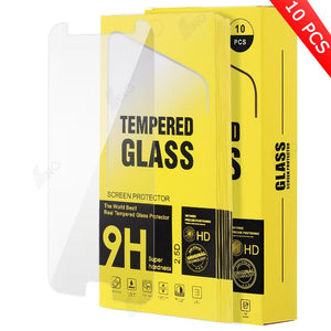 Tempered Glass Compatible For Samsung J7(10 pcs in a pack)