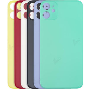 Back Cover Glass Compatible For iPhone 11 (big hole , no logo)