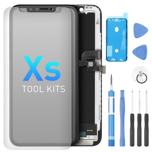 LCD Assembly Compatible For iPhone Xs with Repair Tool Kits