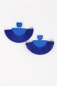 Half Circle Fringed Tassel Earrings