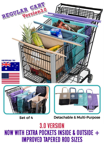 trolley bags system for grocery shopping