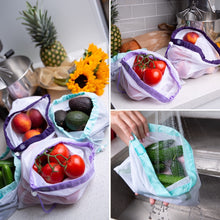 Load image into Gallery viewer, Lotus Produce Bags - set of 9 with 3 different sizes - The reusable shopping bags solution