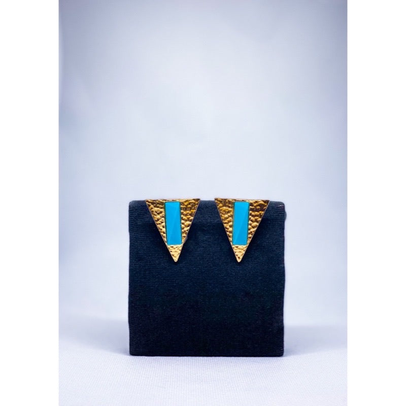 True blue stud earring