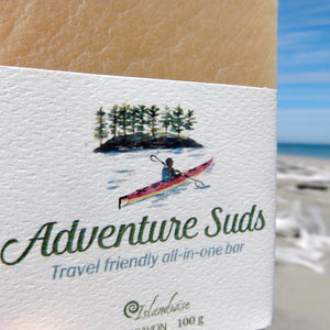 Adventure Suds shampoo and travel bar