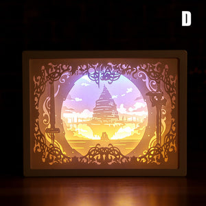 3D Paper Carving Shadow Light