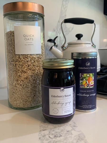 Recipe Alert - Wake Up to Elderberry Boost Oatmeal