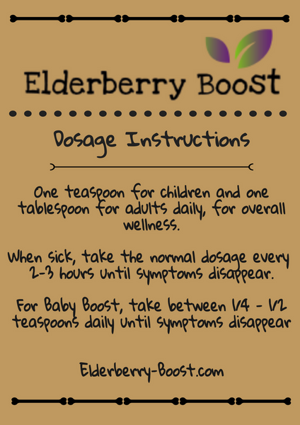 Elderberry Syrup Dosage Instructions