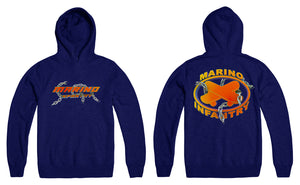 "Marino Infantry ""Chain"" - Hoodie (Orange/Blue)"