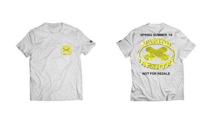 Not For Resale - Tee (Yellow/White)