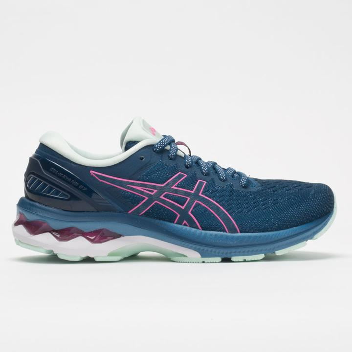 Womens Asics Gel-Kayano 27  Mako Blue/Hot Pink