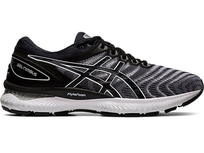 Mens Asics Gel-Nimbus 22 White/Black (100) 4E