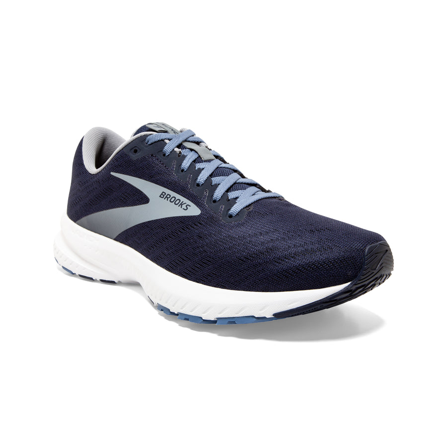 Mens Brooks Launch 7  Peacoat/Primer Grey/White