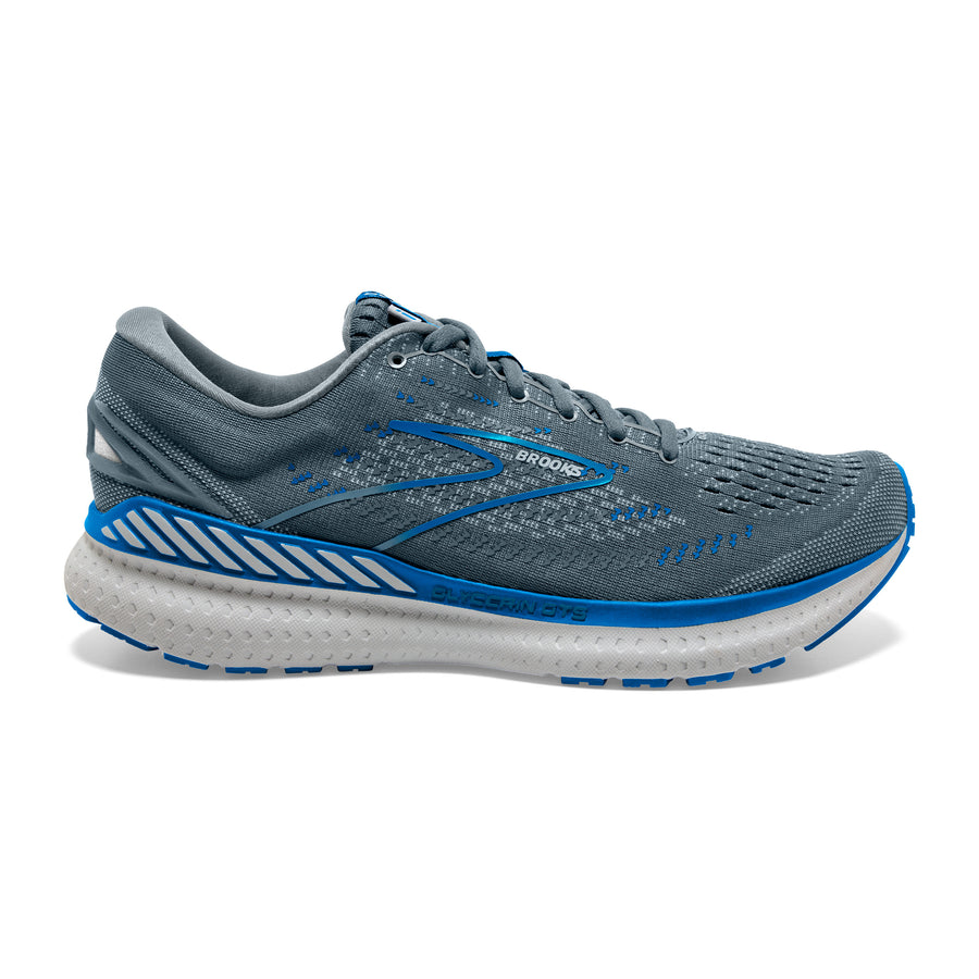 Mens Brooks Glycerin GTS 19  Quarry/Grey/Dark Blue-095