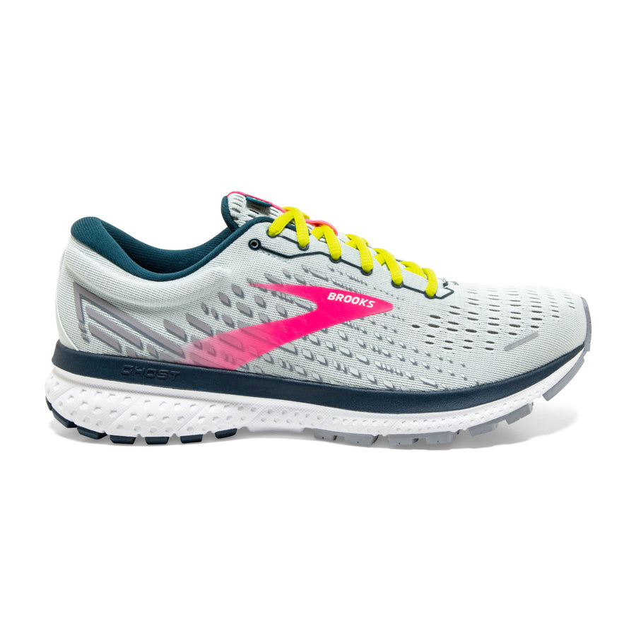 Womens Brooks Ghost 13  Ice Flow/Pink/Pond (154)