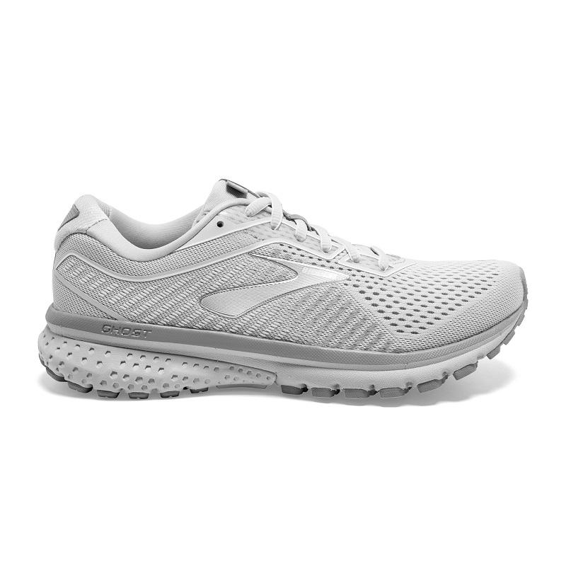 Womens Brooks Ghost 12 Oyster/Alloy/White (112)