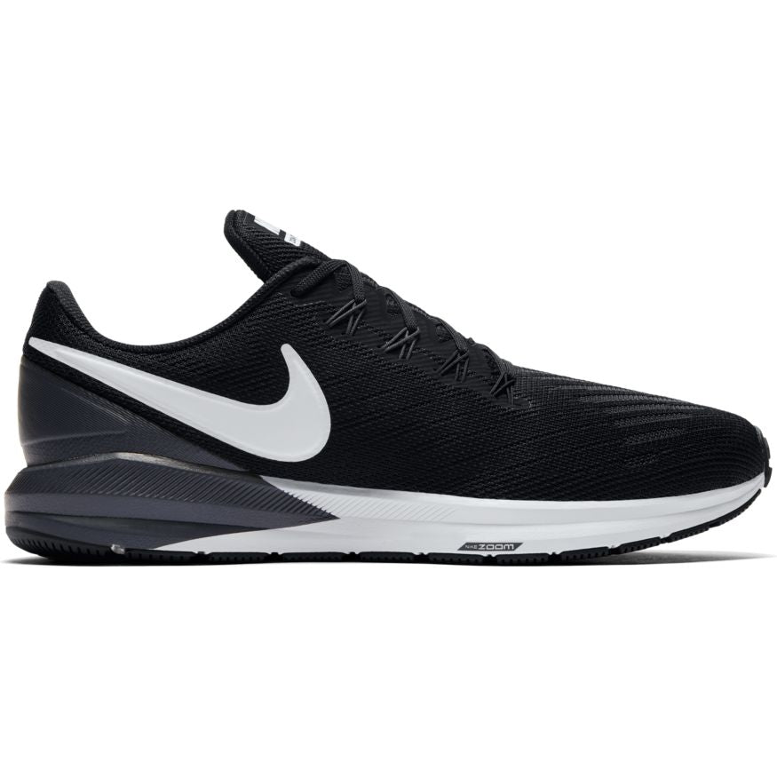 Nike Air Zoom Structure 22 Black/White-Gridiron (002)