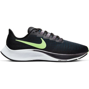 Mens Nike Air Zoom Pegasus 37 Black/Lime Blast-Valerian Blue-White (001)