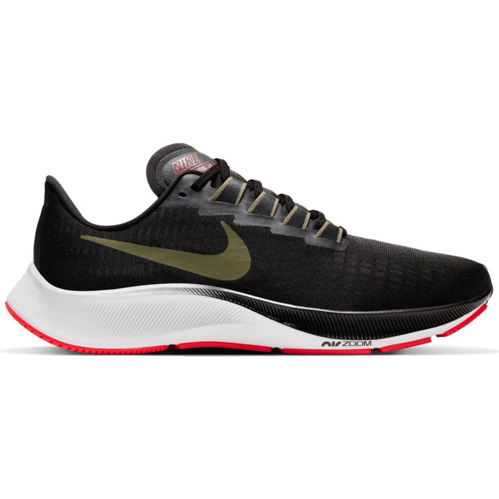 Mens Nike Air Zoom Pegasus 37  Black/Medium Olive-Olive Aura(004)
