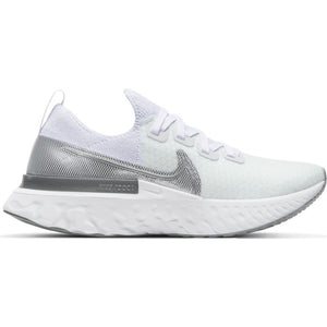 Womens Nike React Infinity Run FK  True White/Metallic Silver(101)