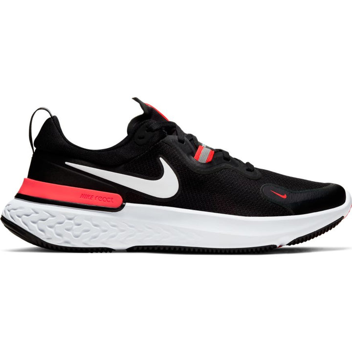 Mens Nike React Miler Black/White-Laser Crimson(001)