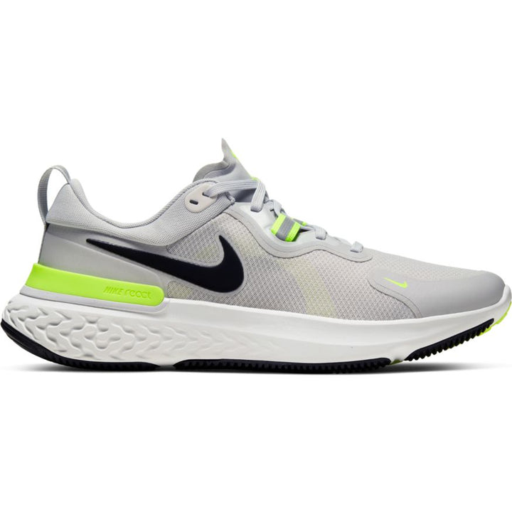 Mens Nike React Miler Grey Fog/Black-Particle Grey-Volt (005)