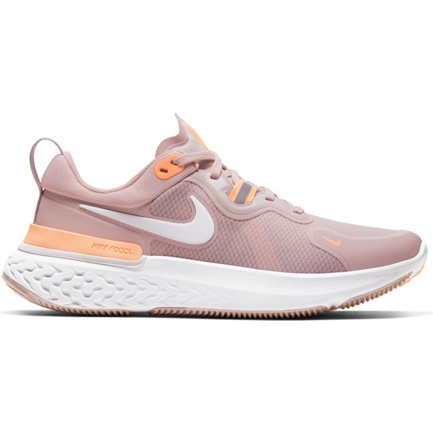 Womens Nike React Miler Champagne/White-Orange Pulse-Barely Rose(602)