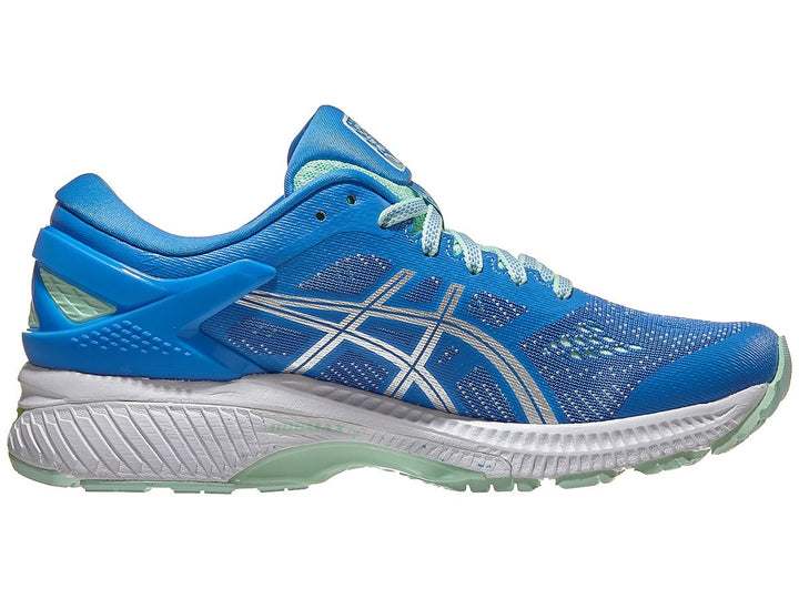 Womens Asics Gel-Kayano 26 Blue Coast/Pure Silver (401)