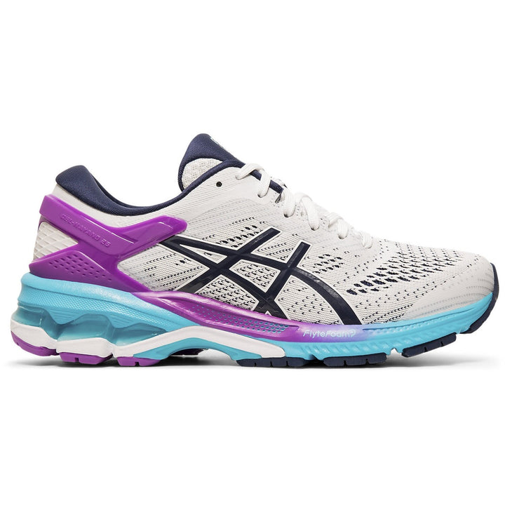 Womens Asics Gel-Kayano 26 White/Peacoat (100)