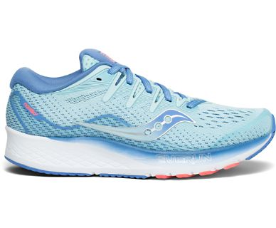 Kids Saucony Ride ISO 2 Blue (4)