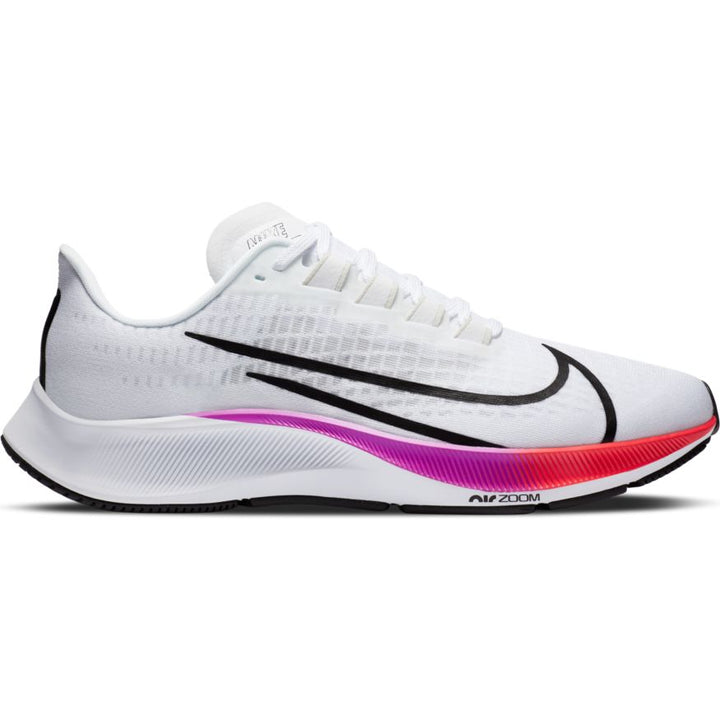 Mens Nike Air Zoom Pegasus 37 White/Black-Hyper Violet-Crimson(103)