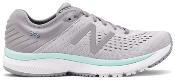 New Balance W860v10 (D) Steel with Light Aluminum & Light Reef (P)