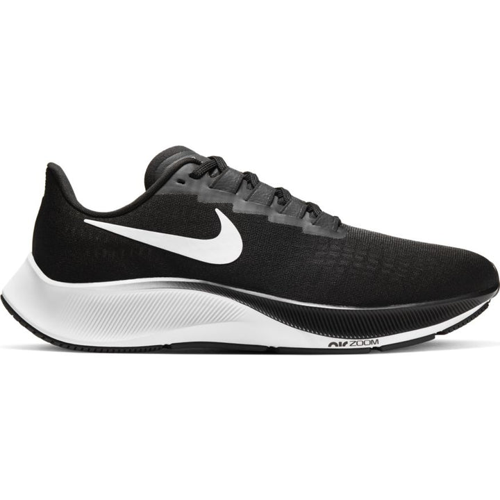 Mens Nike Air Zoom Pegasus 37 Black/White (002)