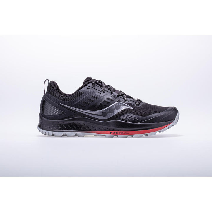Mens Saucony Peregrine 10 Black/Red