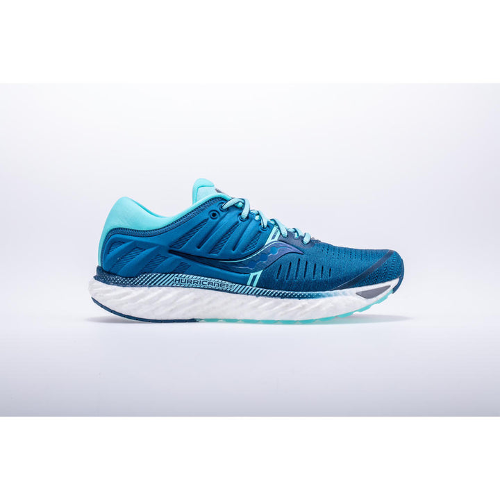 Womens Saucony Hurricane 22 Blue/Aqua (Wide)