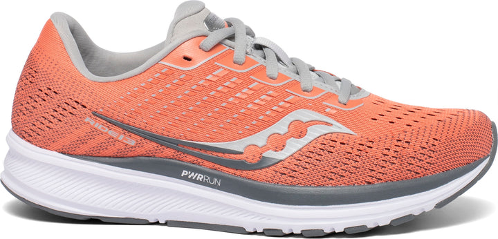 Womens Saucony Ride 13 Coral/Alloy(30)