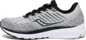 Womens Saucony Ride 13 Alloy/Black (40) WIDE