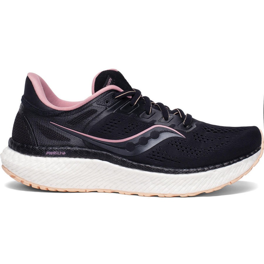 Womens Saucony Hurricane 23  Black/Rosewater(Wide)