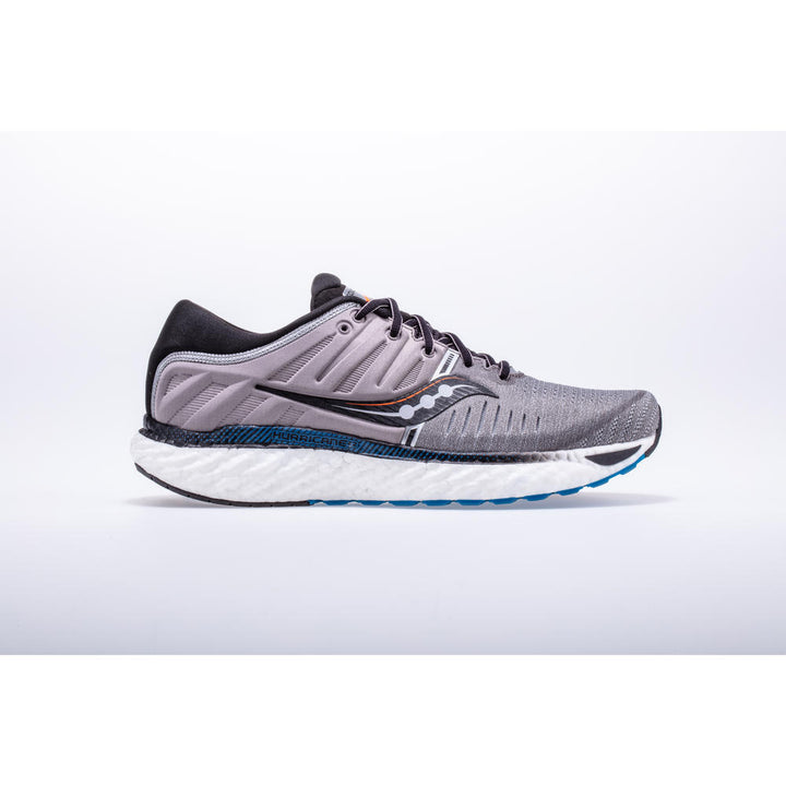 Mens Saucony Hurricane 22 Grey/Black (Wide)