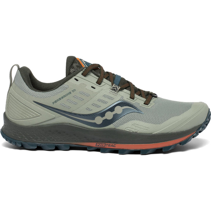Mens Saucony Peregrine 10 Pine/Orange