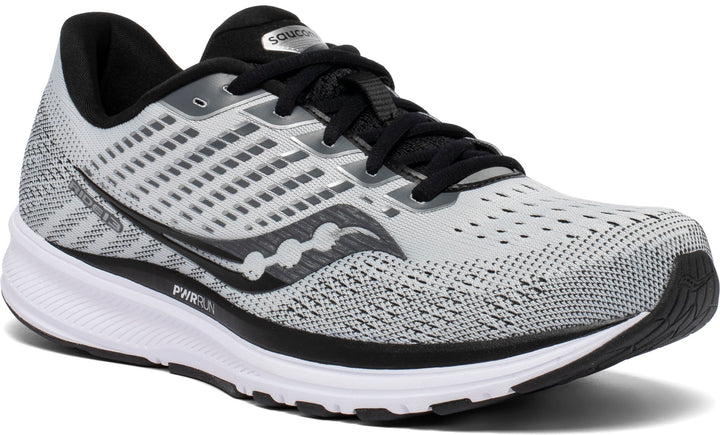 Mens Saucony Ride 13 Alloy/Black (40) WIDE