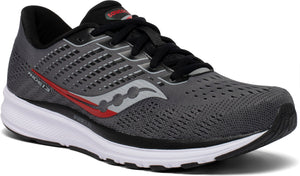 Mens Saucony Ride 13 Charcoal/Black (30)(Wide)