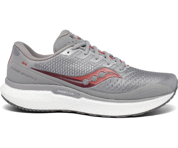 Mens Saucony Triumph 18  Alloy/Red