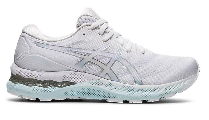 Womens Asics Gel-Nimbus 23   White/Pure Silver