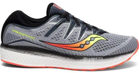 Mens Saucony Triumph ISO 5 Grey/Black (1) WIDE