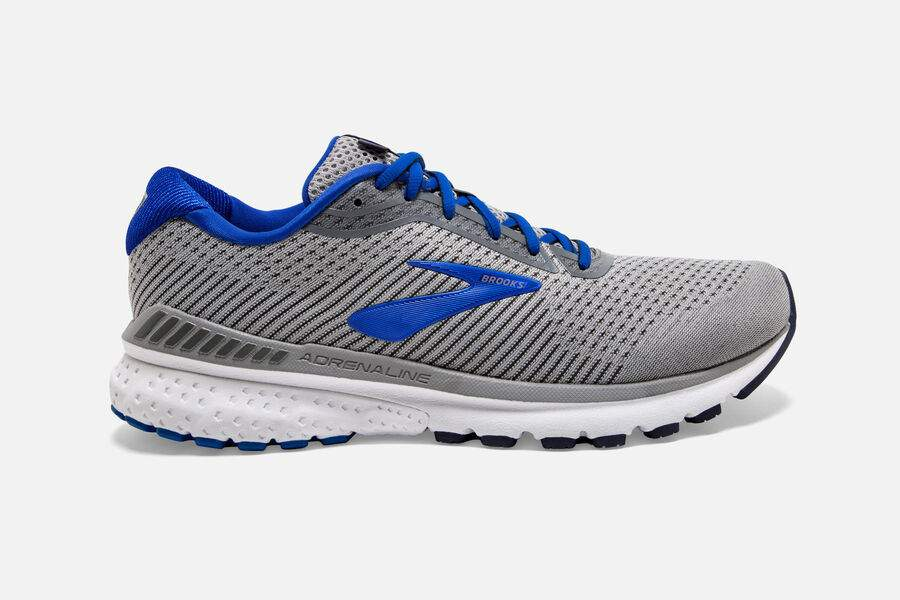 Mens Brooks Adrenaline GTS 20  Grey/Blue/Navy(051)(4E)