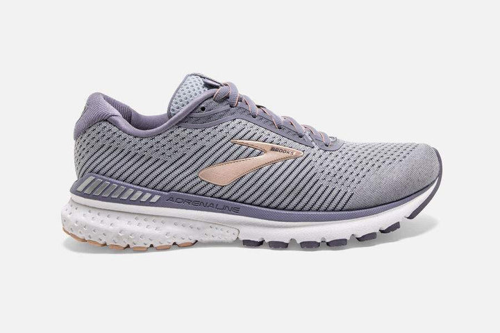 Womens Brooks Adrenaline GTS 20 Grey/Pale Peach (073) (D)
