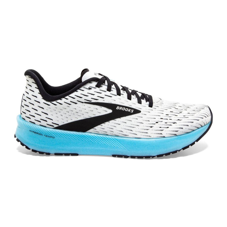 Womens Brooks Hyperion Tempo  White/Black/Iced Aqua