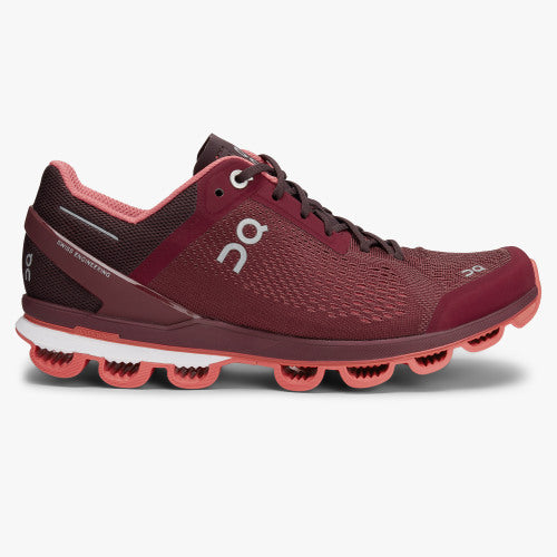Womens ON Cloudsurfer Mulberry/Coral