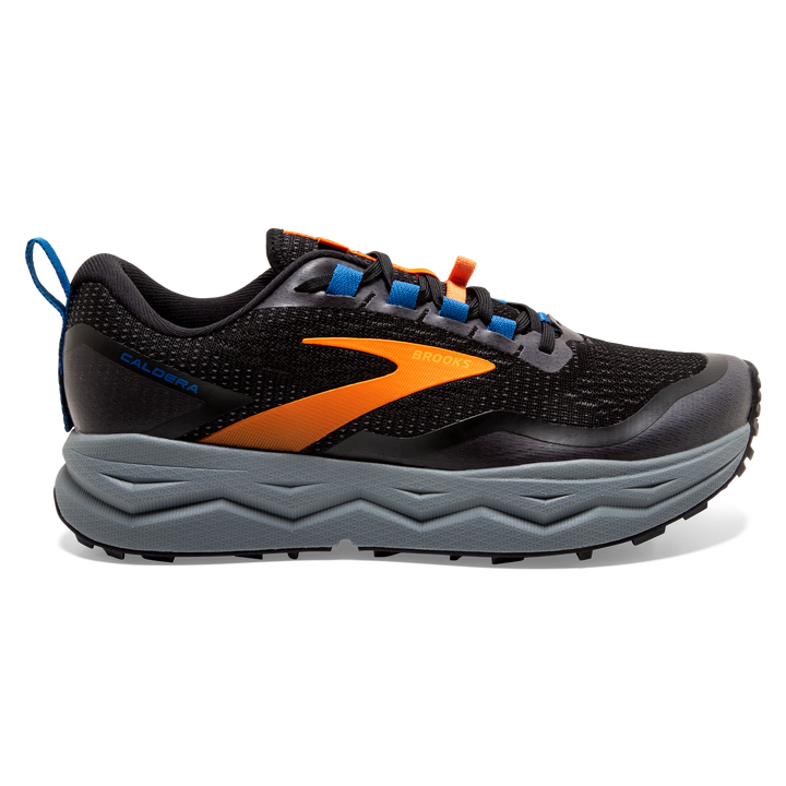 Mens Brooks Caldera 5   Black/Orange/Blue