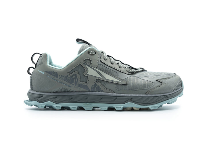 Womens Altra Lone Peak 4.5 Natural Grey/Light Turquoise
